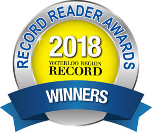 Waterloo Region Record Readers Choice Award Winner